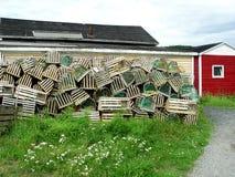 Crisoles de langosta y etapa de la pesca Fotos de archivo libres de regalías