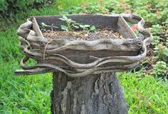 Crisoles de madera Fotografía de archivo libre de regalías