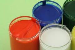 Crisoles de pintura Fotografía de archivo