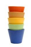 Crisoles del arco iris Foto de archivo libre de regalías