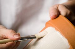 Crisoles del colorante Foto de archivo libre de regalías