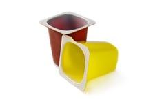 Crisoles del yogur Fotografía de archivo libre de regalías