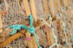 Crisoles o jaulas de langosta Fotografía de archivo