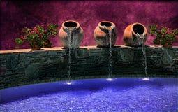 Crisoles toscanos del agua Fotografía de archivo