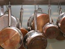 Crisoles y cacerolas Imagen de archivo