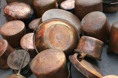 Crisoles y cacerolas Fotografía de archivo libre de regalías