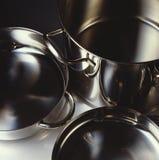 Crisoles y cacerolas Foto de archivo libre de regalías