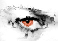 crisom μάτι διανυσματική απεικόνιση