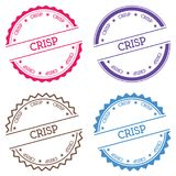 Crisp badge isolated on white background. Flat style round label with text. Circular emblem vector illustration vector illustration