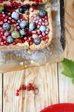 Crisp berry pie with currants Royalty Free Stock Photos