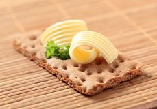 Crisp Bread And Butter Royalty Free Stock Photography