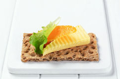 Crisp bread and butter Stock Image