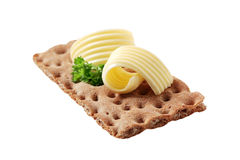 Crisp bread and butter Stock Images
