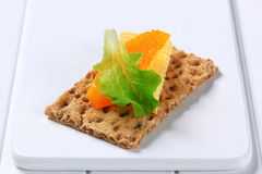 Crisp bread and butter Stock Photography