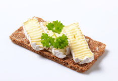 Crisp bread with cheese Royalty Free Stock Photography