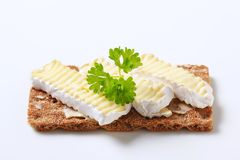 Crisp bread with cheese Royalty Free Stock Photos