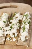 Crisp bread with curd Stock Photo