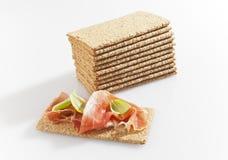Crisp bread. Healthy light food Royalty Free Stock Image