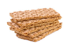 Crisp bread isolated on white Royalty Free Stock Photos