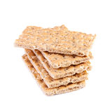 Crisp bread isolated on white background Royalty Free Stock Images