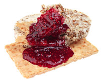 Crisp bread and jam Royalty Free Stock Image