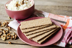 Crisp bread on a plate Stock Images