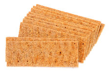 Crisp bread on white Stock Images