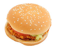 Crisp chicken burger Royalty Free Stock Photos