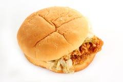 Crisp chicken burger Stock Photos