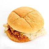 Crisp chicken burger Stock Images