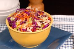 Crisp cole slaw with carrot in Stock Image