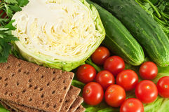 Crisp com vegetais Fotografia de Stock