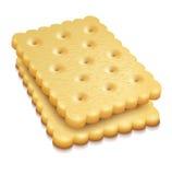 Crisp cookies snacks. Two crisp cookies snacks on white background - eps10 vector illustration vector illustration