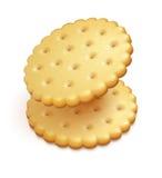 Crisp cookies snacks. Two crisp cookies snacks on white background - eps10 vector illustration stock illustration
