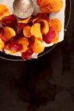 Crisp crunchy vegetable chips Stock Images
