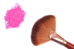 Crisp eyeshadow makeup and brush Stock Photo