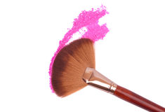 Crisp eyeshadow makeup and brush Stock Images