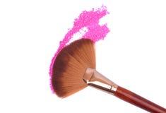 Crisp eyeshadow makeup and brush Stock Images
