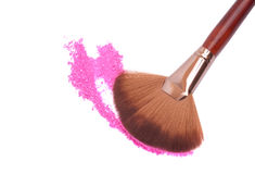 Crisp eyeshadow makeup and brush Stock Photography