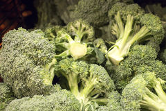 Crisp fresh broccoli at the market. Some crisp fresh broccoli at the market stock images