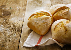 Crisp fresh crusty rolls Stock Images