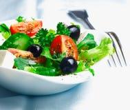 Crisp fresh Greek salad Stock Photo