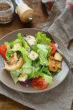 Crisp fresh salad with croutons Stock Photography
