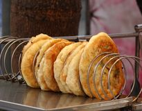 Crisp Fried Onion Cakes Royalty Free Stock Images
