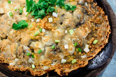 Crisp fried oyster pancake Stock Images