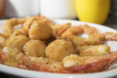 Crisp fry of fish Stock Images