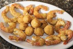 Crisp fry of fish Stock Photos