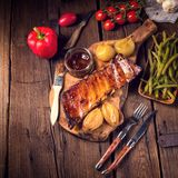 Crisp grilled ribs Stock Photos