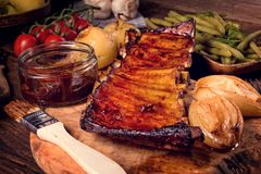 Crisp grilled ribs Stock Photography