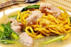 Crisp noodle in creamy sauce Stock Image